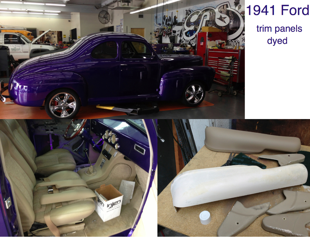 1941 Ford  trim panels dyed