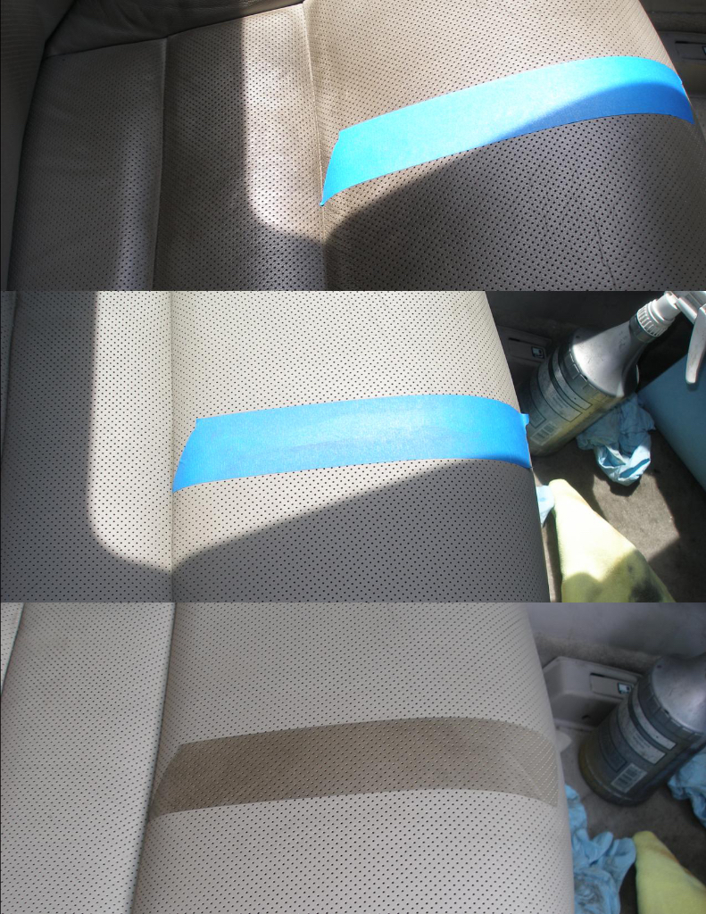 Snow's Auto Interior Restoration ACURA TL-S repaired left Front Seat. We professionally removed the clear top coat that have all the dirt trapt into it. Reapplied the new top coat, leather repair, Seat repair, auto leather repair, vinyl repair ,Seat restoration