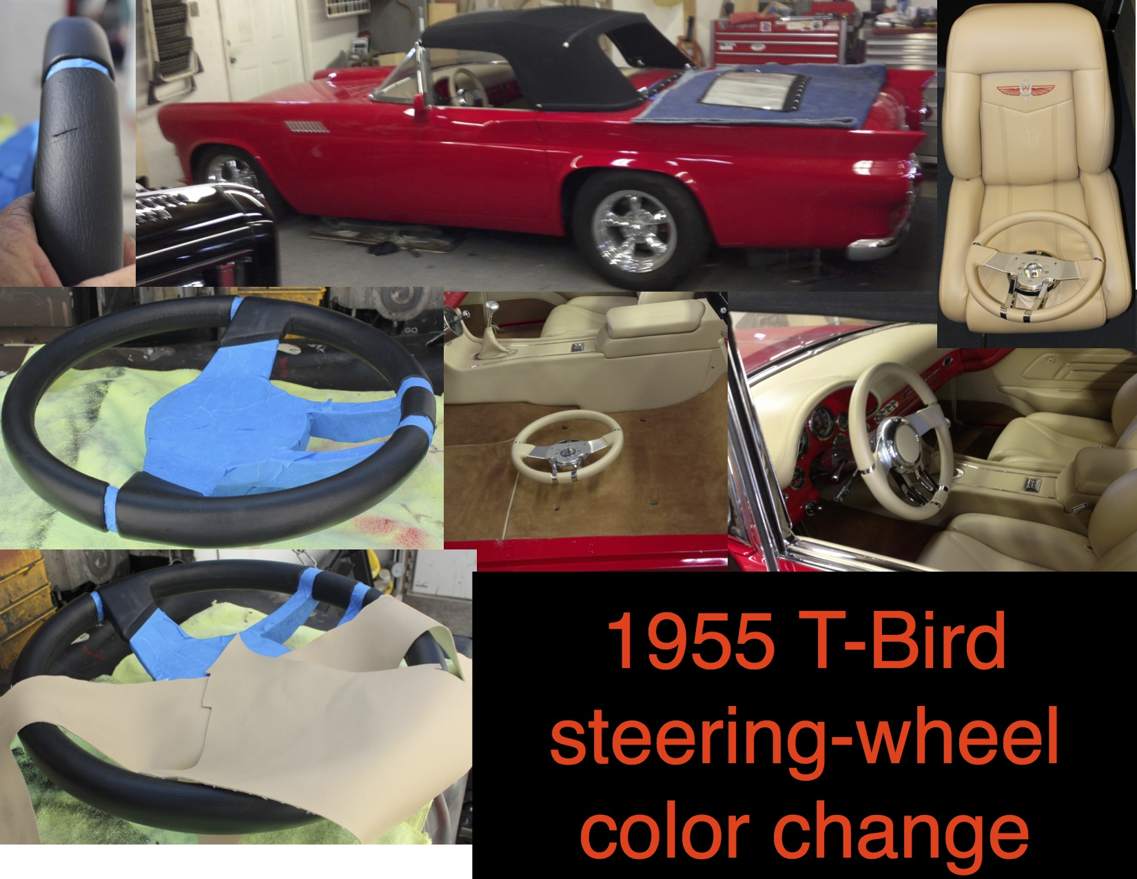 1955 T-Bird steering color change